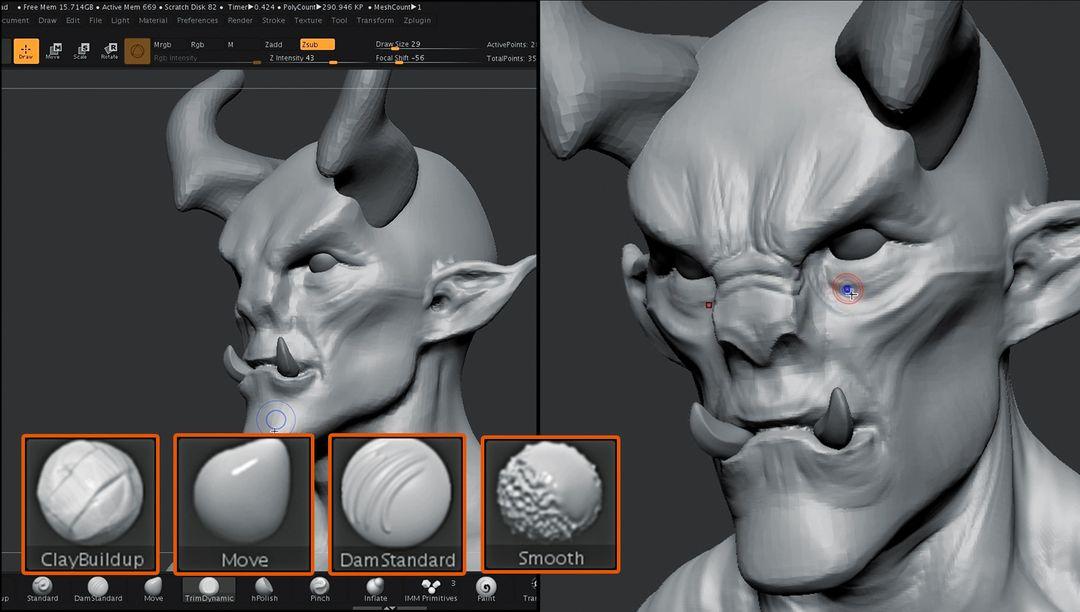 Sculpting Tutorial for Wacom jz Wacom Tutorial 01 05 jpg