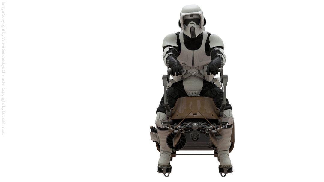 Star Wars Scout Trooper Star Wars Biker Scout Poster Front jpg