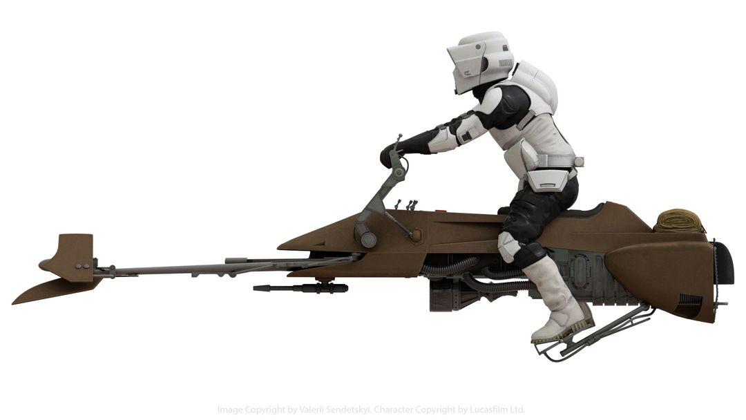 Star Wars Scout Trooper Star Wars Biker Scout Poster Side jpg