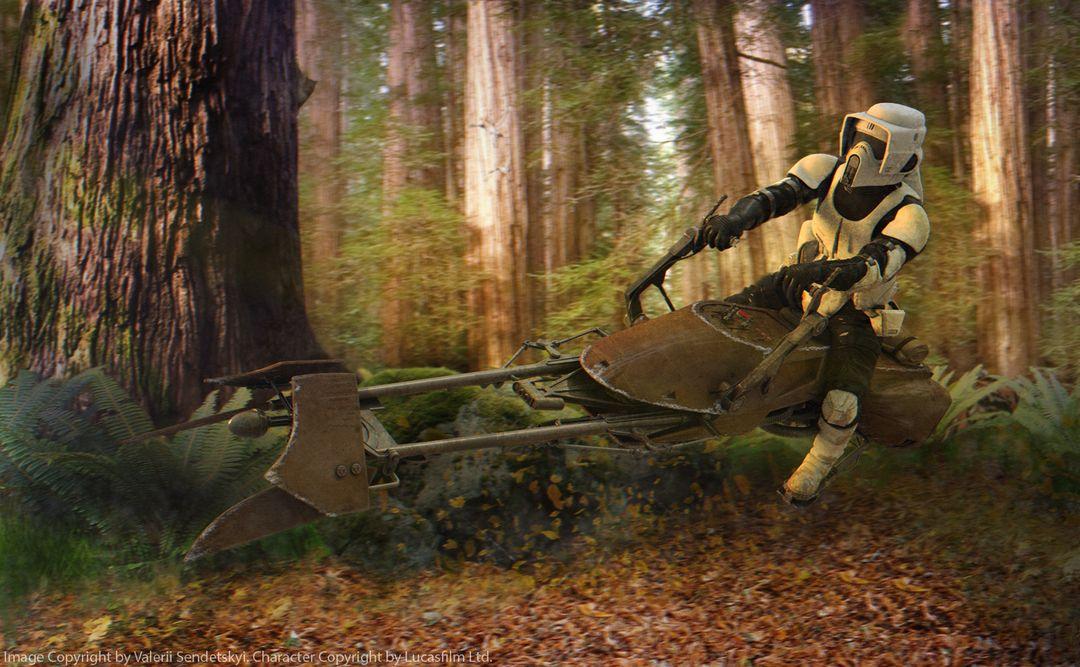 Star Wars Scout Trooper Star Wars Scout Biker Forest jpg