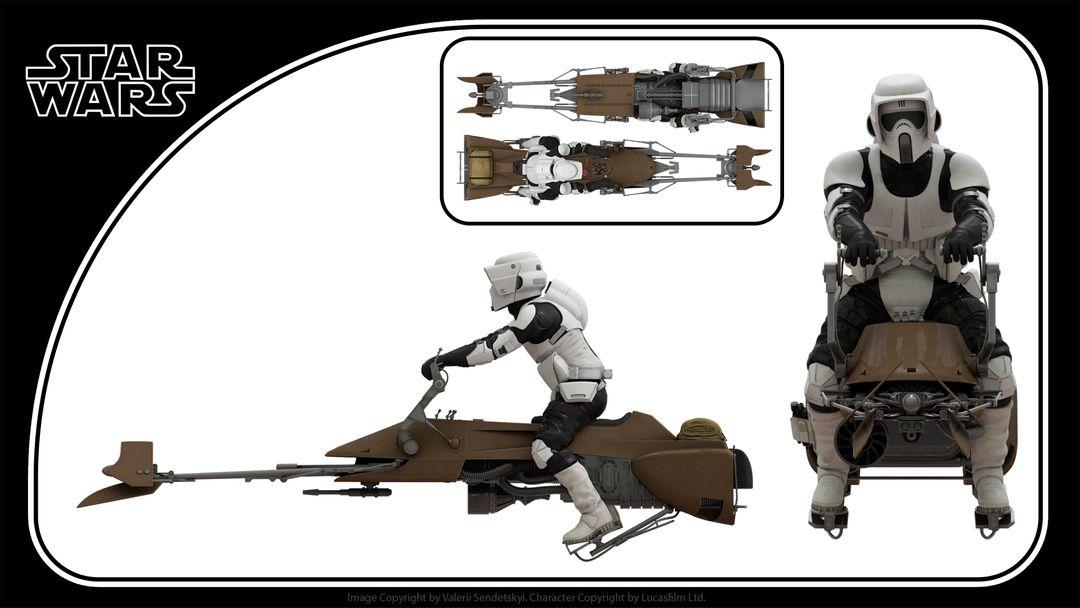 Star Wars Scout Trooper Star wars Biker Scout Trooper Print jpg