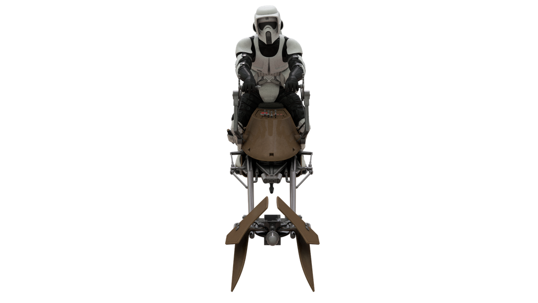 Star Wars Scout Trooper front perspective png