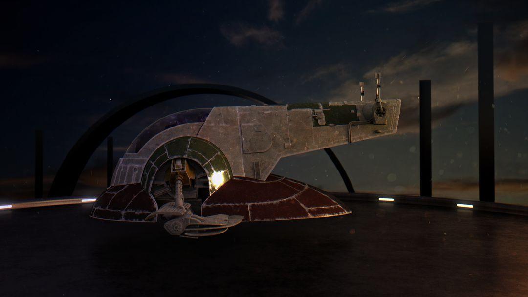 Various Star Wars Boba Fett Slave Ship jpg