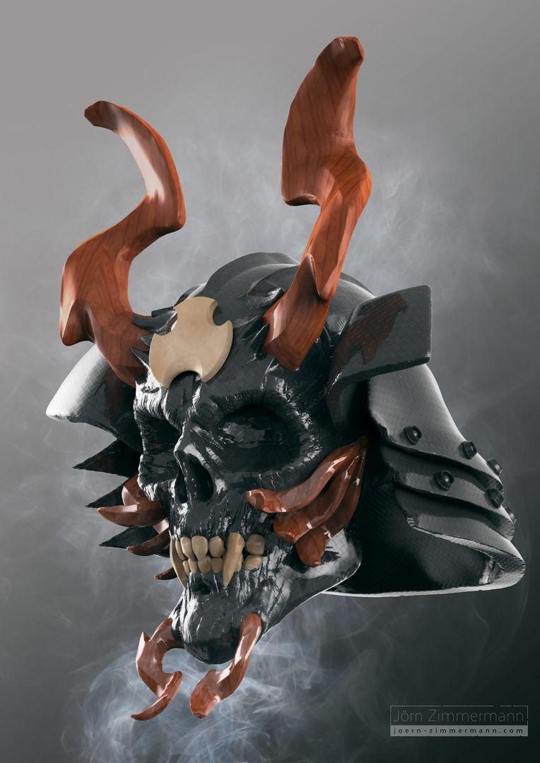 Warrior Skulls jz SamuraiSkull jpg