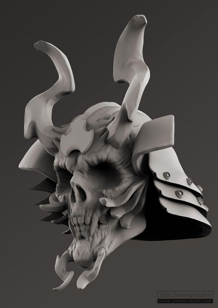 Warrior Skulls jz SamuraiSkull Clay jpg