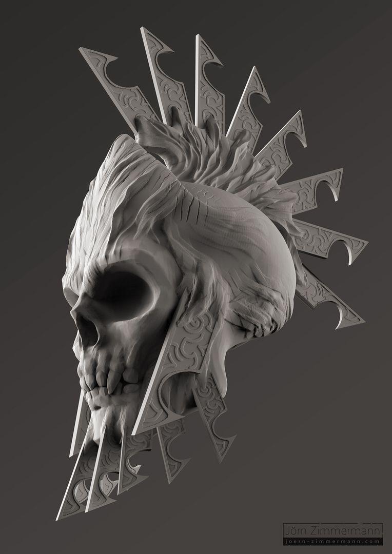 Warrior Skulls jz Spartan Skull Clay jpg