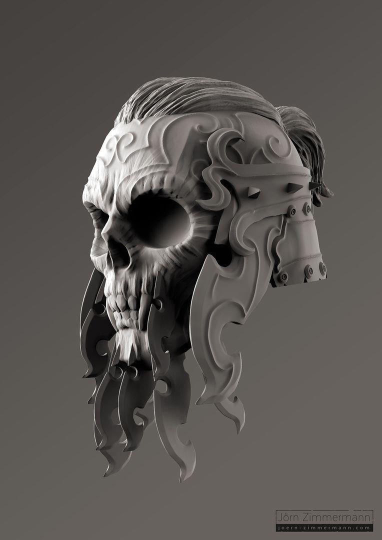 Warrior Skulls jz VikingSkull Clay jpg