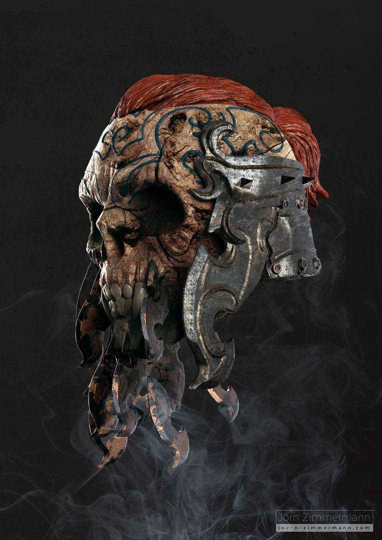 Warrior Skulls jz VikingSkull Mat jpg