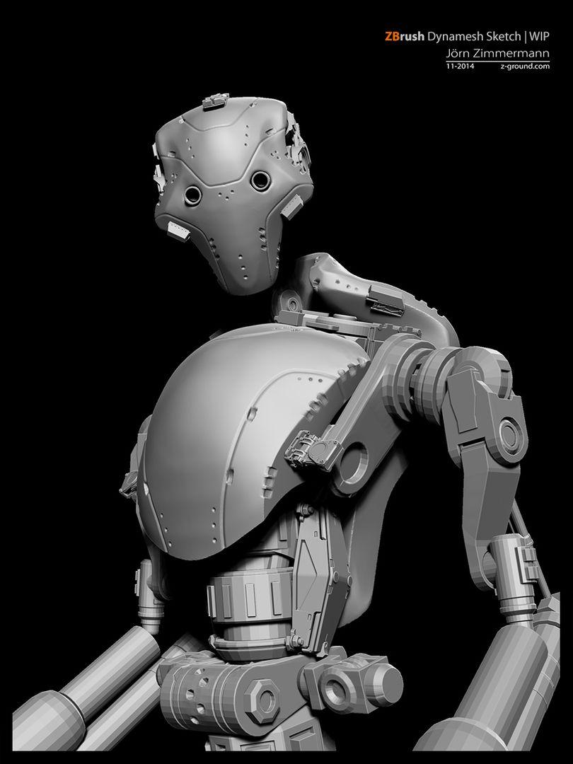 Robot Concept jz Robot03 BW jpg