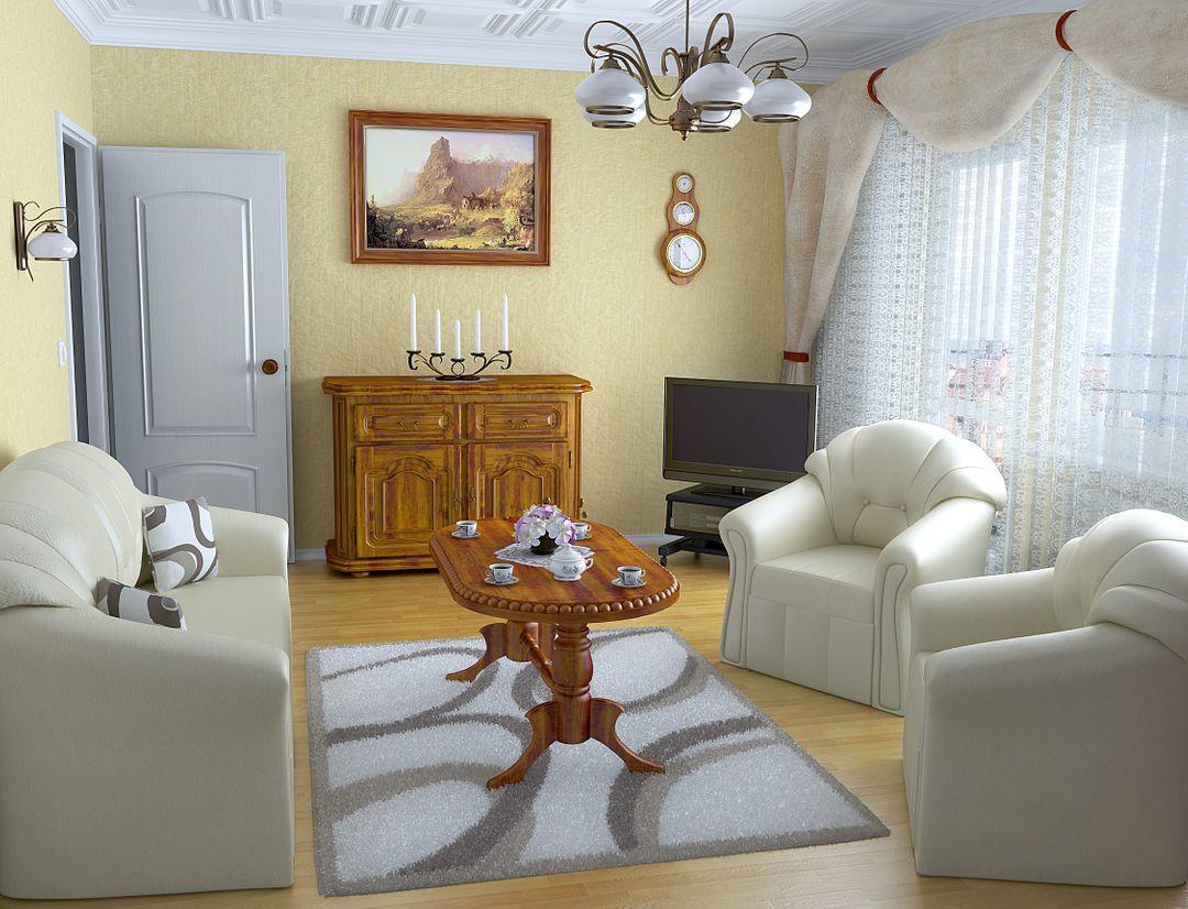Architectural Visualisation (VRay, Octane) Livingroom Classic jpg