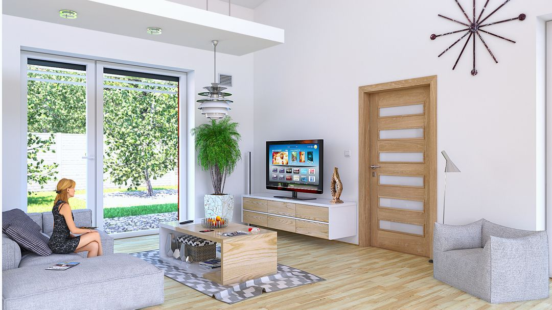 Architectural Visualisation (VRay, Octane) Livingroom TV jpg