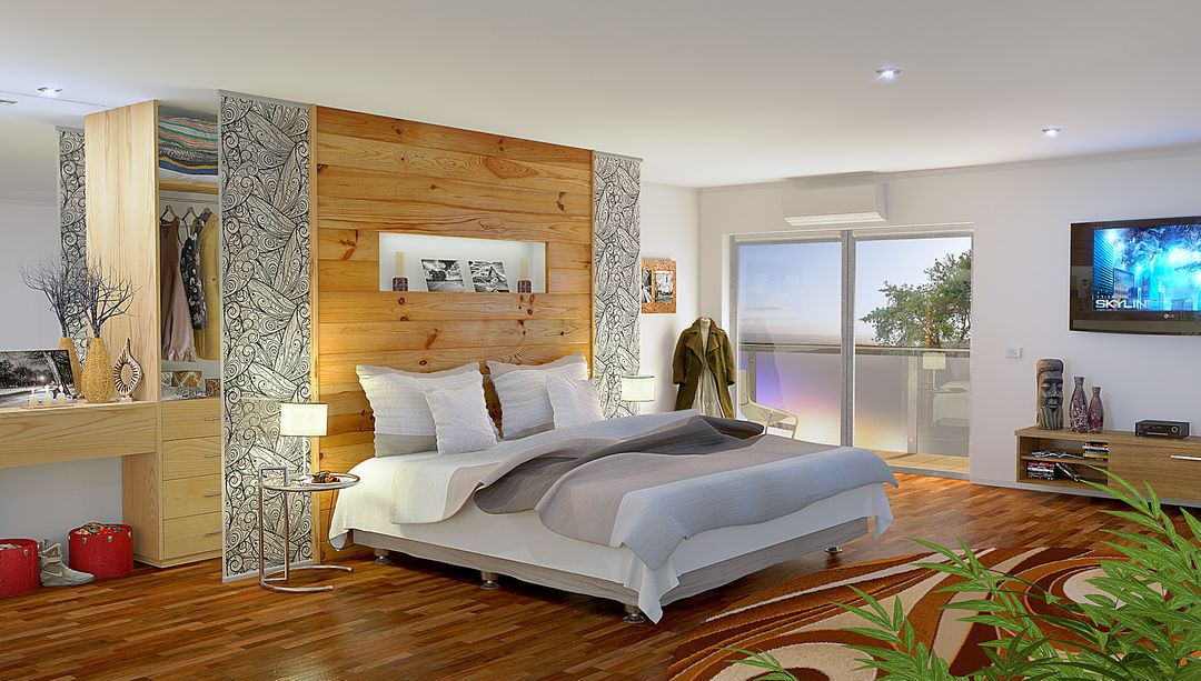 Architectural Visualisation (VRay, Octane) Modern Bedroom jpg
