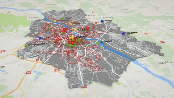 Maps Gis Warsaw - Animation