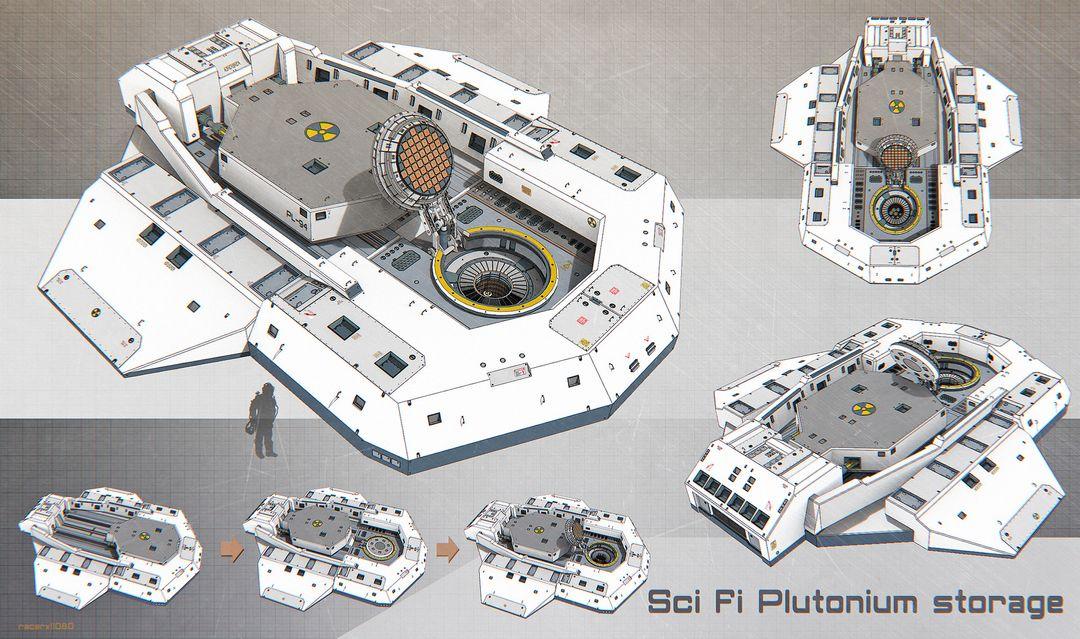 Sci Fi architecture and props Sci fi plutonium storage jpg