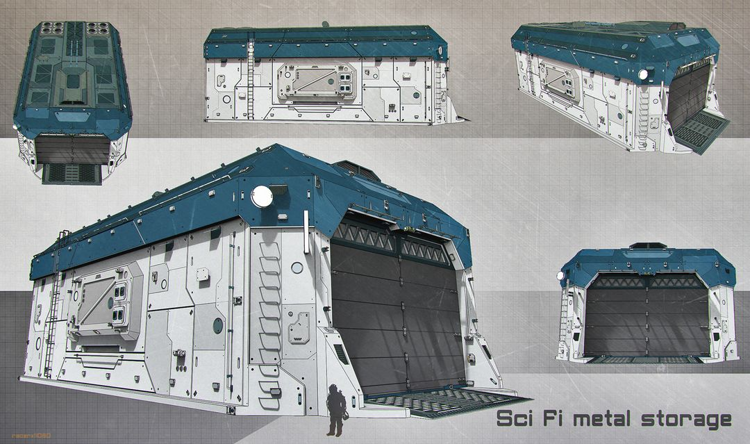 Sci Fi architecture and props sci fi storage jpg