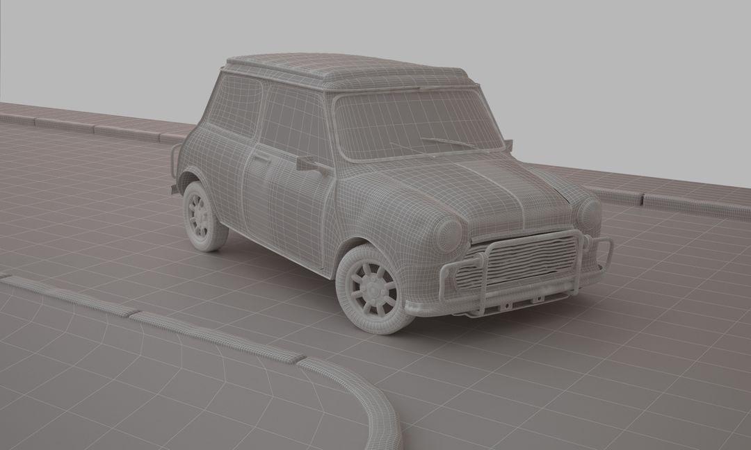 The Bourne Identity- Mini Cooper Car Chase Mini clay edges jpg