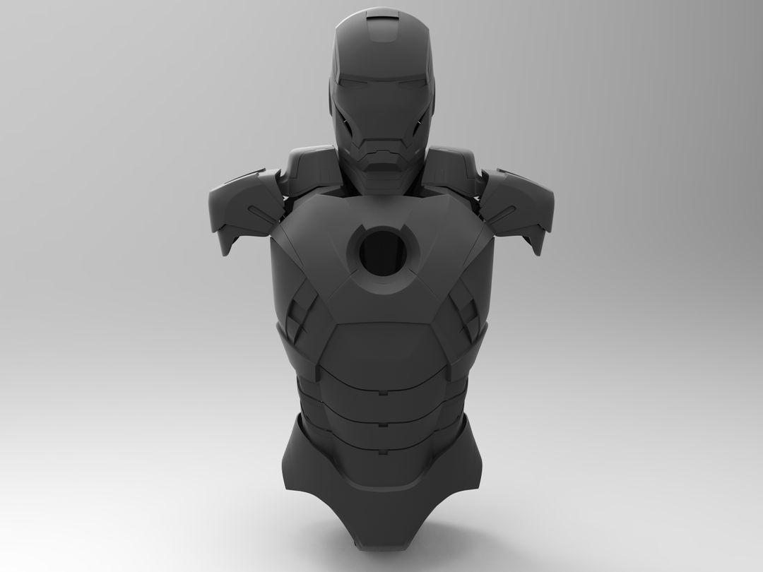 Iron Man Helmet & Half Body BLACK 2 jpg