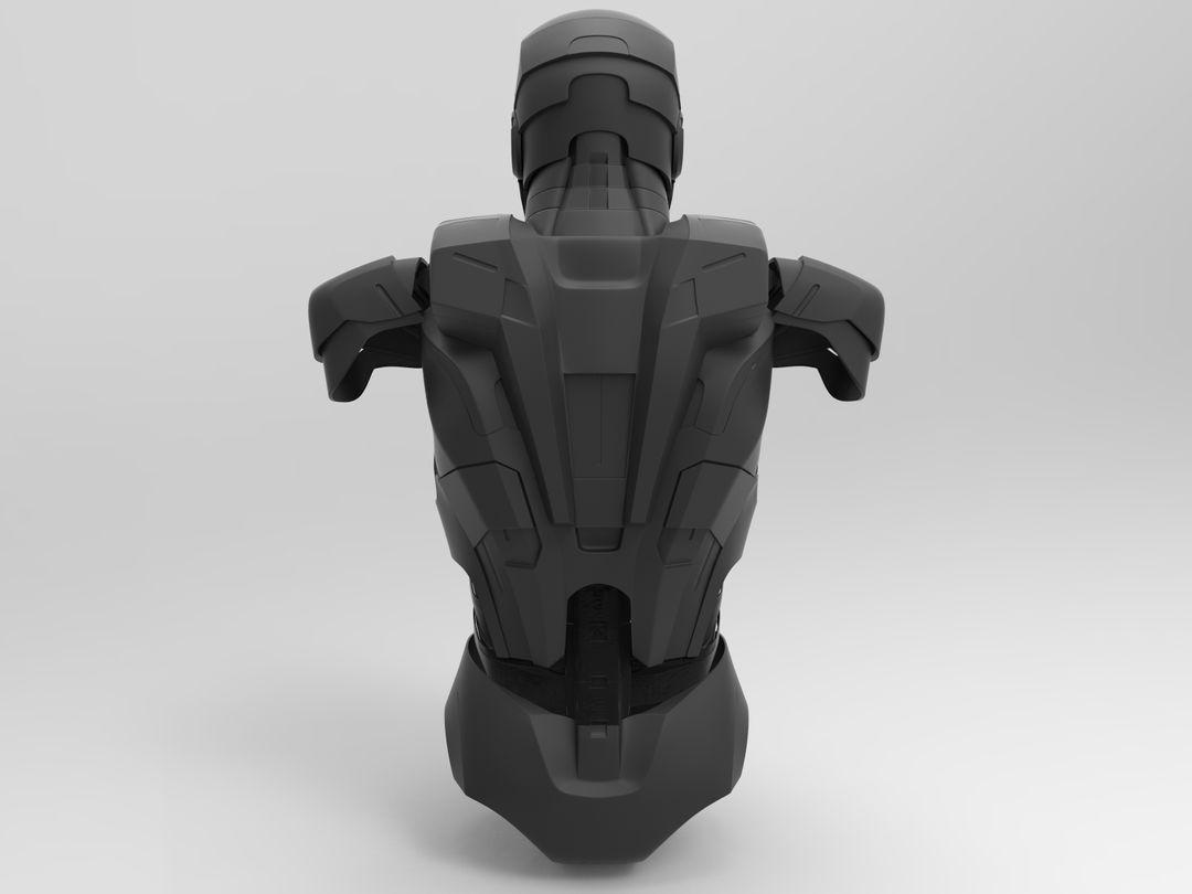 Iron Man Helmet & Half Body BLACK jpg