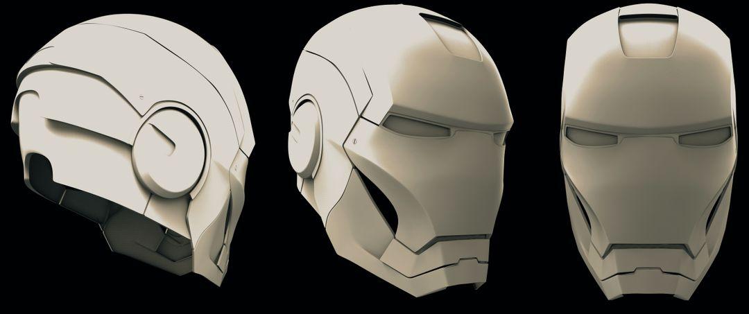 Iron Man Helmet & Half Body Ironman helmet clay PS jpg