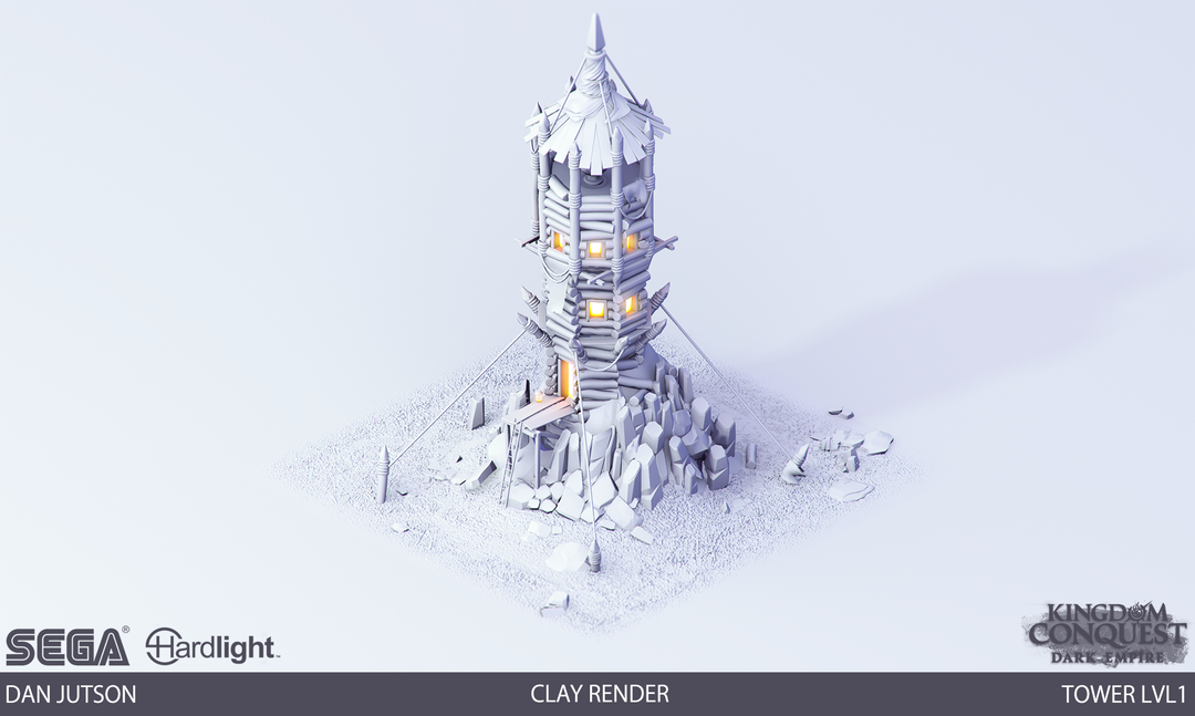 Kingdom Conquest: Dark Empire - Tower Assets Tower1 clay png