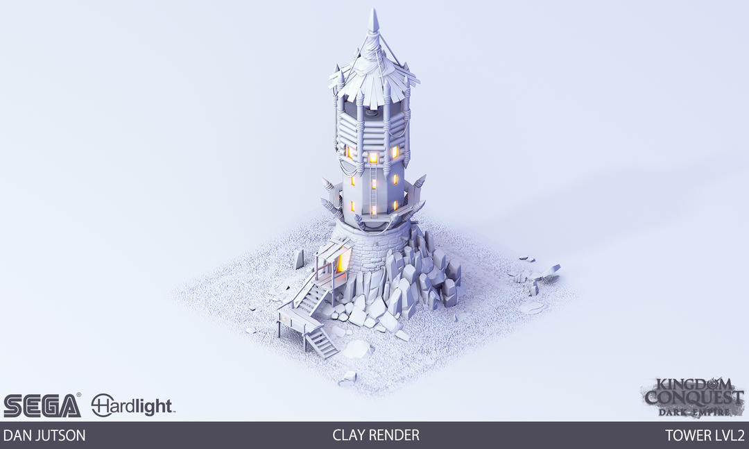 Kingdom Conquest: Dark Empire - Tower Assets Tower2 clay png
