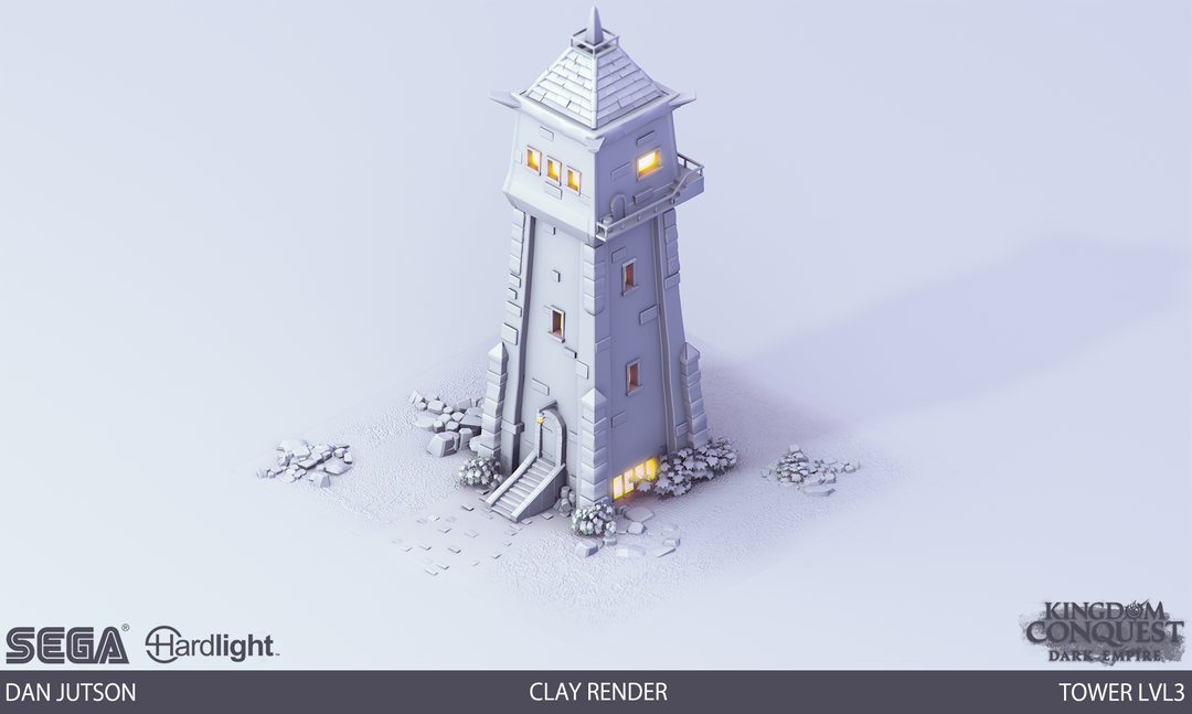Kingdom Conquest: Dark Empire - Tower Assets Tower3 clay png
