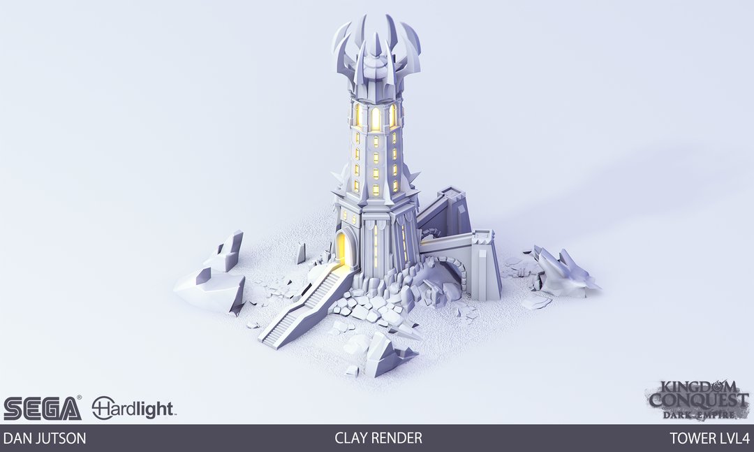 Kingdom Conquest: Dark Empire - Tower Assets Tower4 clay png
