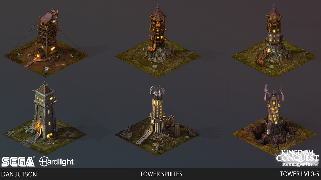 Kingdom Conquest: Dark Empire - Tower Assets tower montage3 png