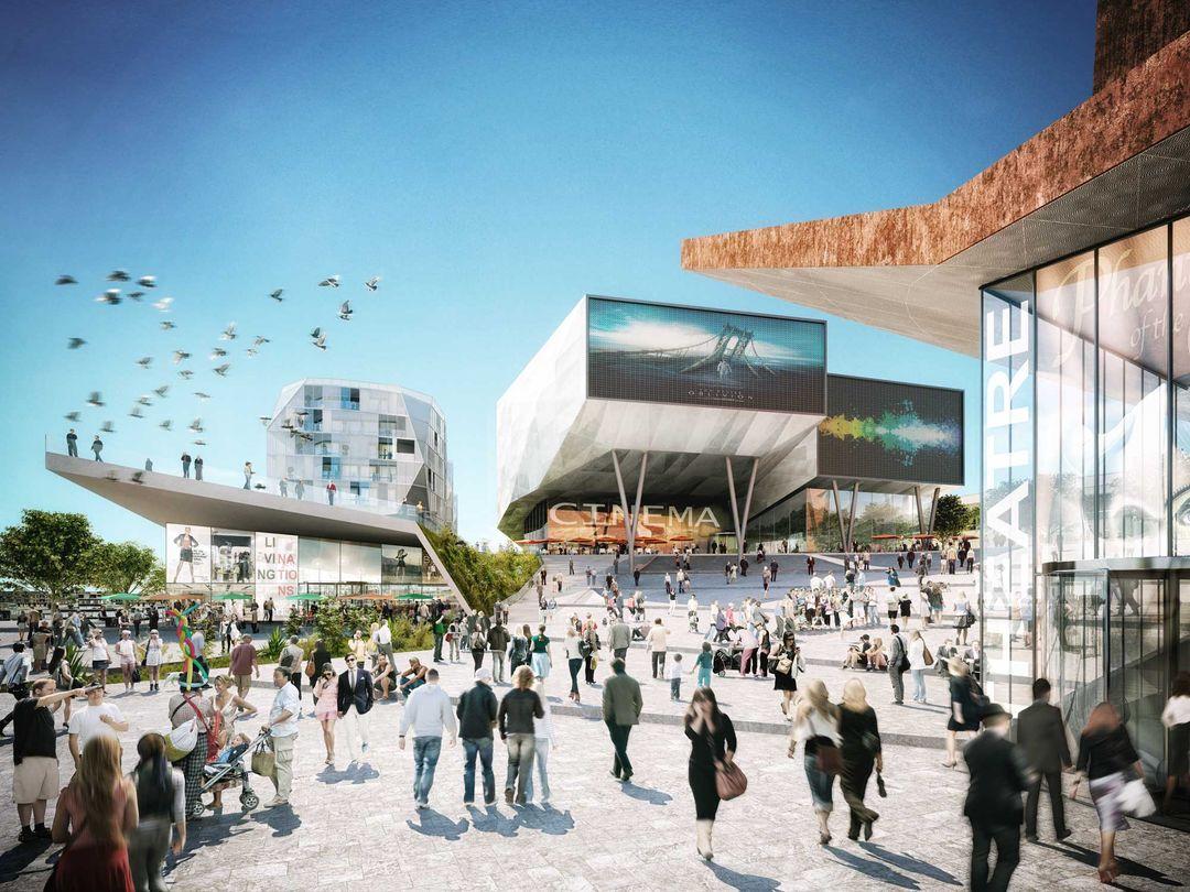 Architectural visualization 146 cinema plaza 2014 V002 jpg