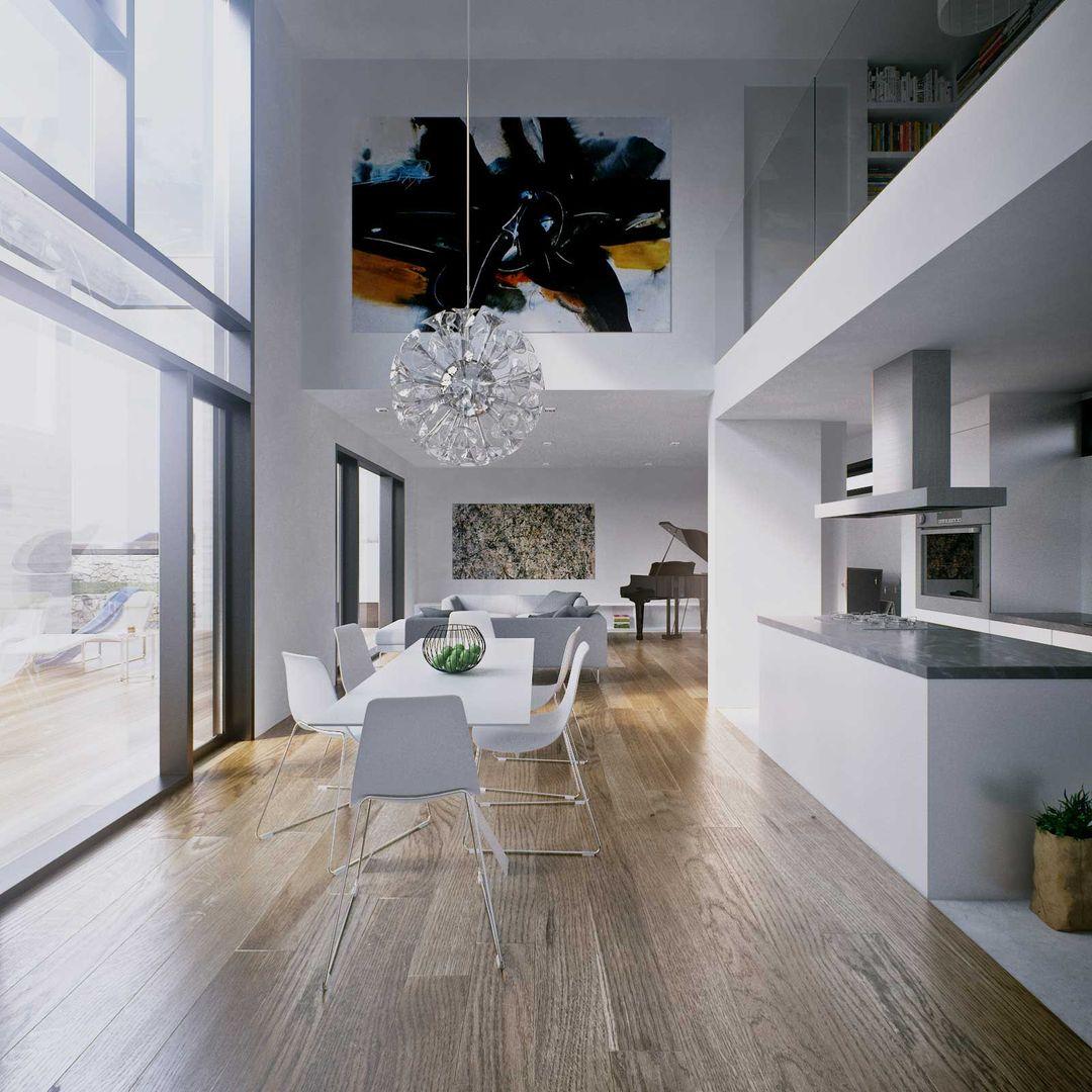 Architectural visualization C House architectural visualisation interior jpg