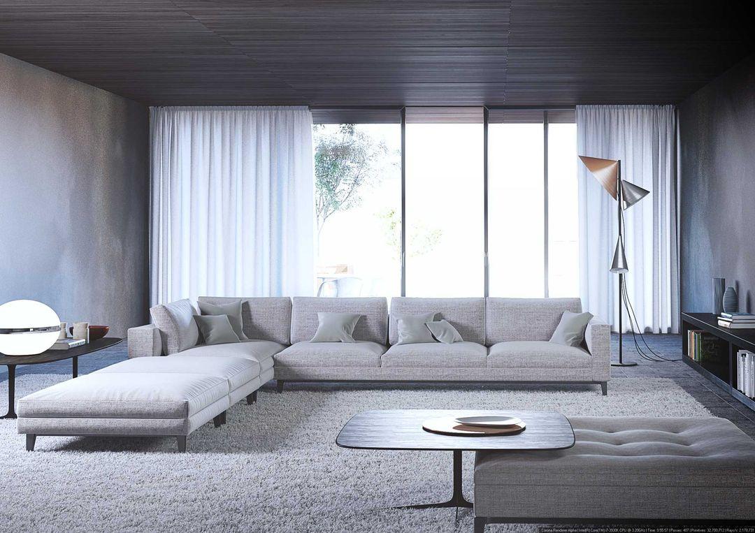 Architectural visualization Minotti interior visualisation jpg