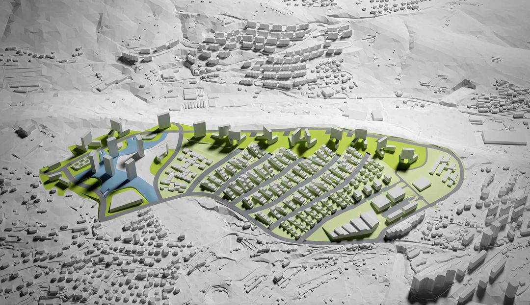 Architectural visualization Urban development visualisation render jpg