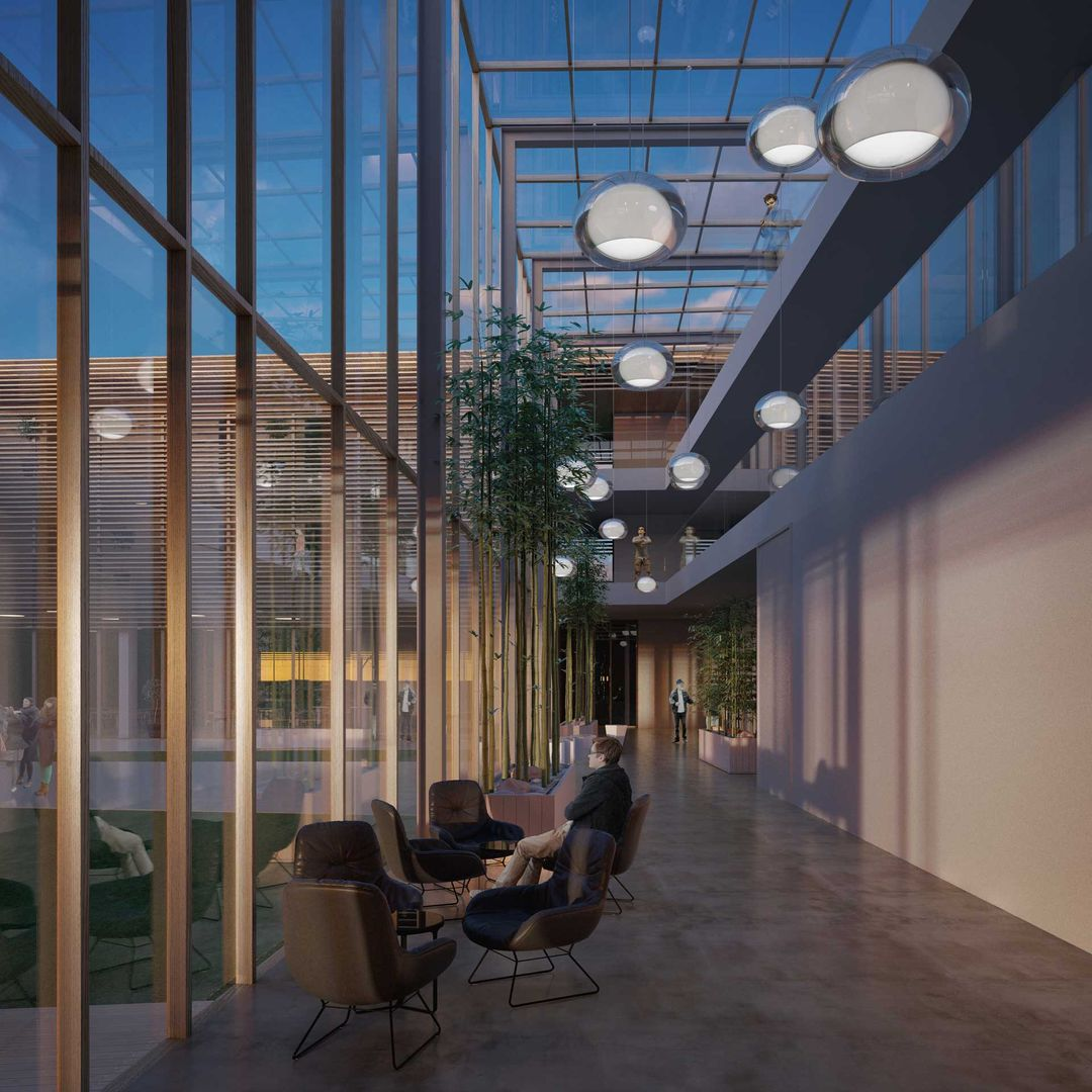 3d interior renders Lobby architectural visualisation 1 jpg