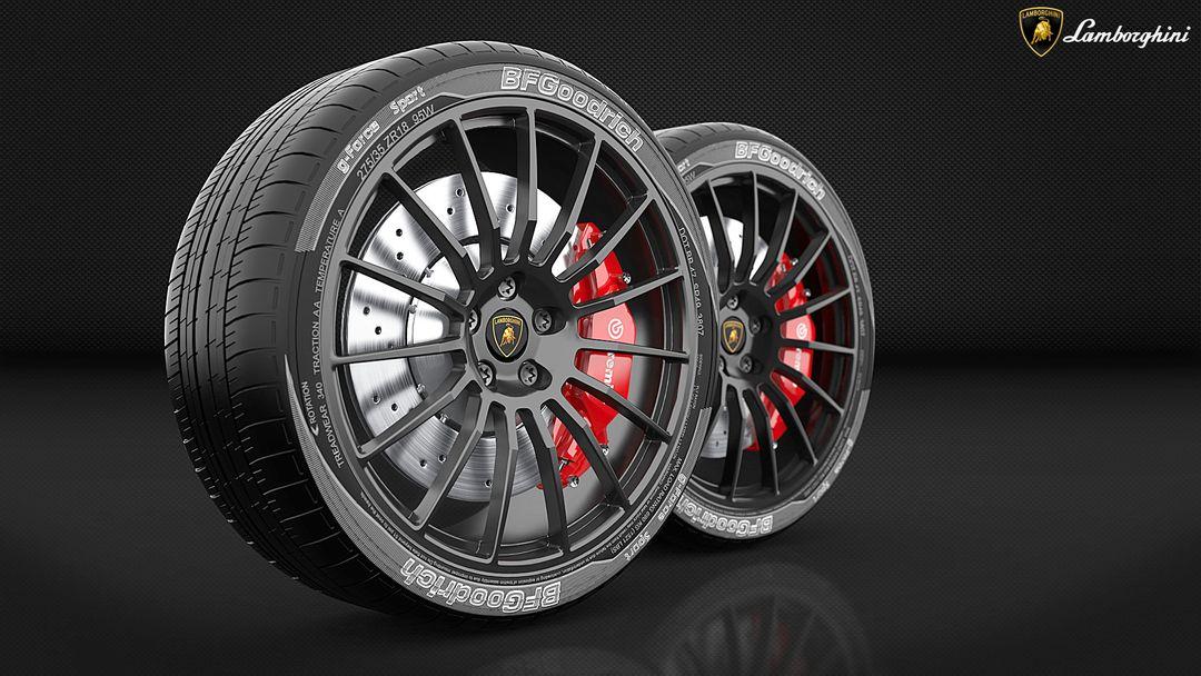 Poly Modelling (Sub - D technique) Lamborghini 2 VRay jpg
