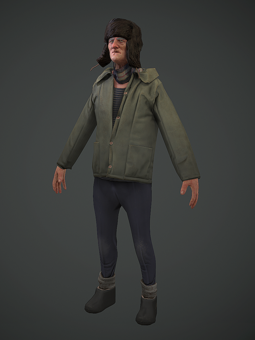 3D Characters old man png