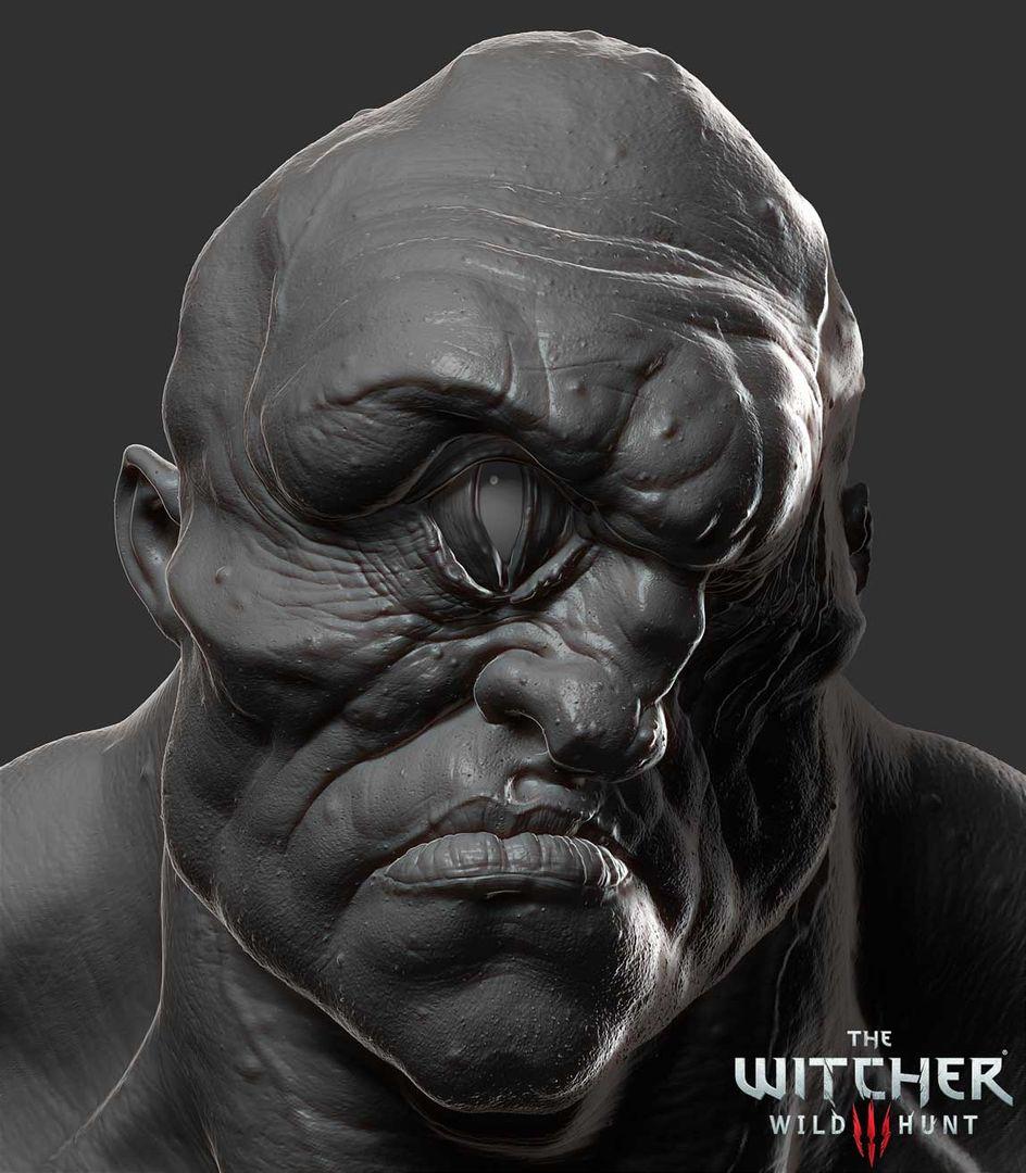 The Witcher 3 Cyklop zbrush shot 01 jpg