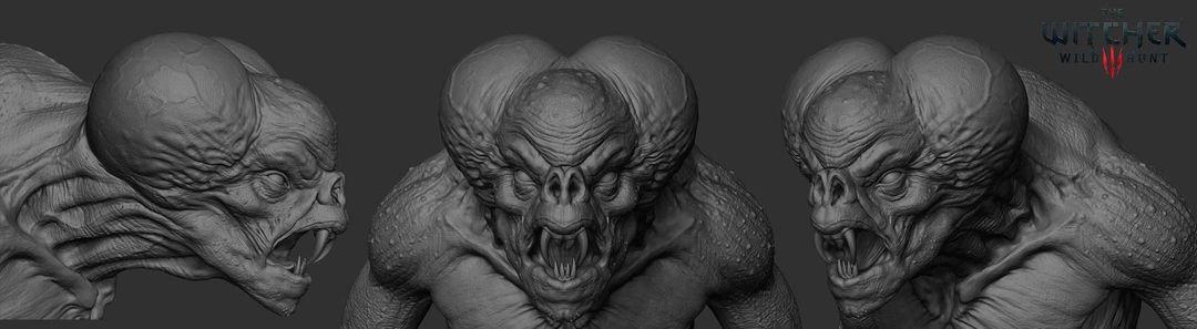 The Witcher 3 Garkain zbrush render 01 jpg