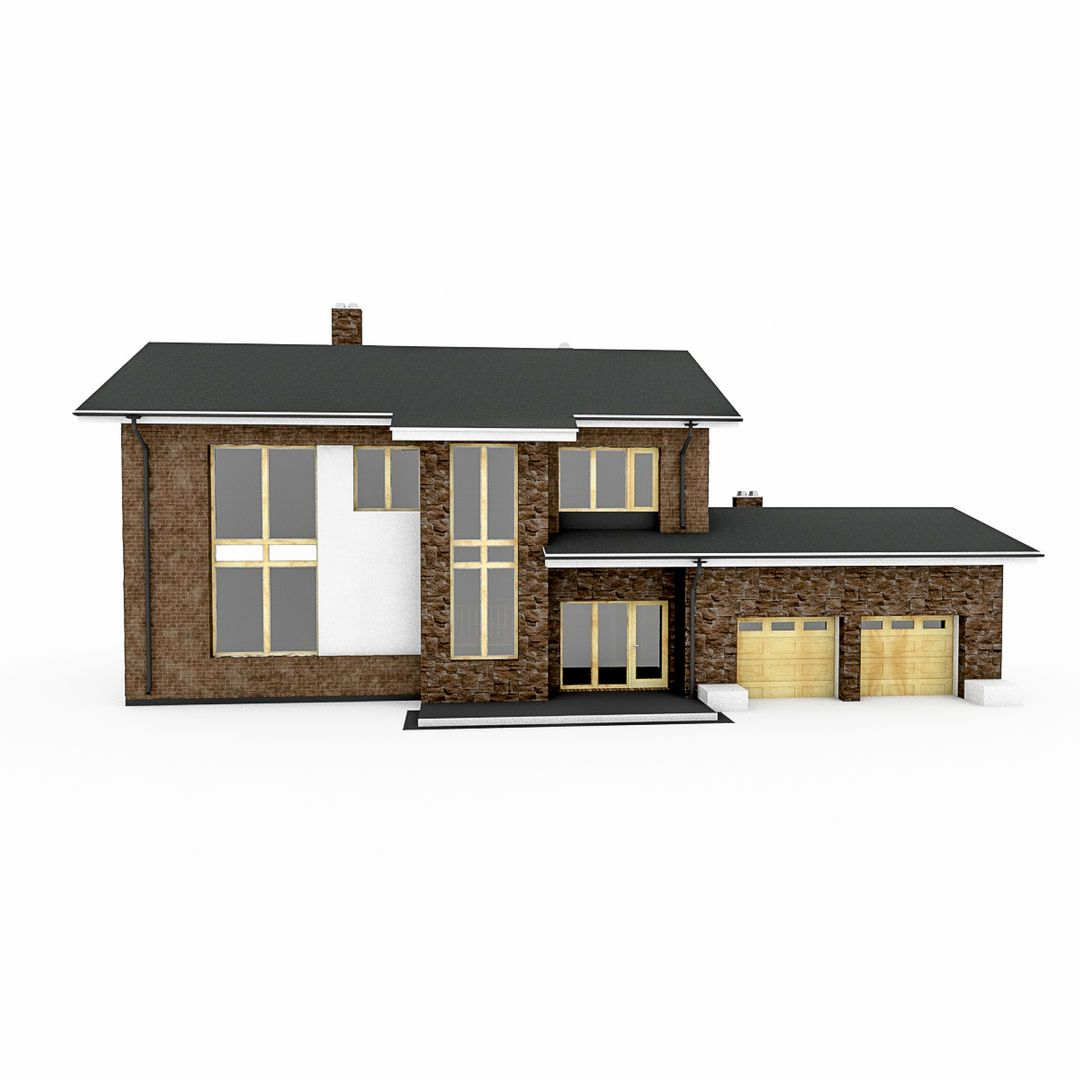 Design Project of Stone and Wood Frame Houses Finnish Brick House 02 jpg