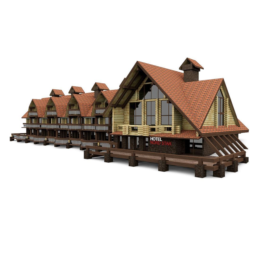 Design Project of Stone and Wood Frame Houses HOTEL 4 jpg