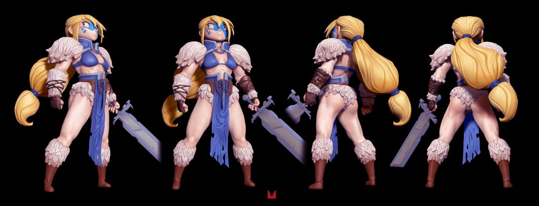 3D character modelling The Blond Barbaria3 jpg