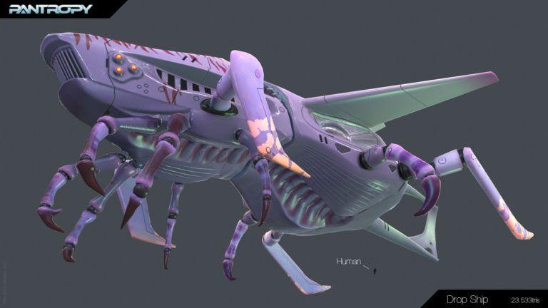 Mechs modelling (hardsurface + organic) drop ship 03 768x432 jpg