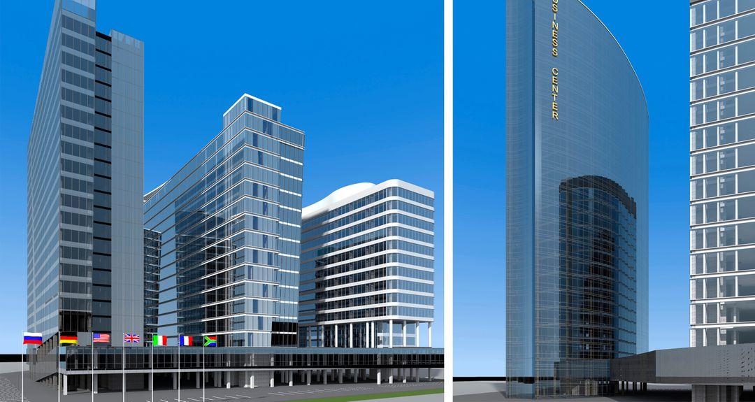 Administrative, Office, Business Buildings. Design project, 3D Без имени 2 jpg