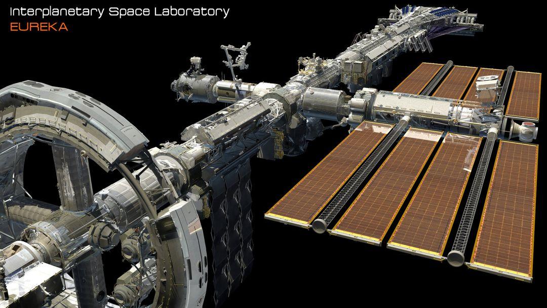 EUREKA Interplanetary Space Station Laboratory 3D Design david yingai lo pan davidyingai eureka spacestation c jpg