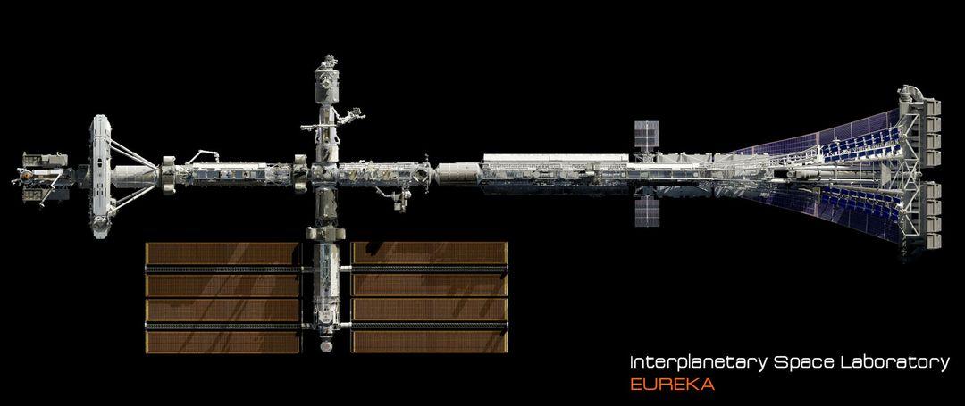 EUREKA Interplanetary Space Station Laboratory 3D Design david yingai lo pan davidyingai eureka spacestation h jpg