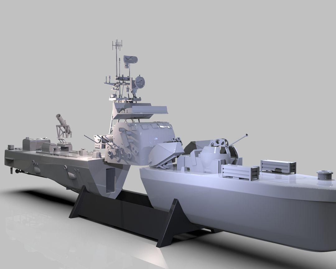 Iranian Missile Warship Missile Boat Render 773 jpg