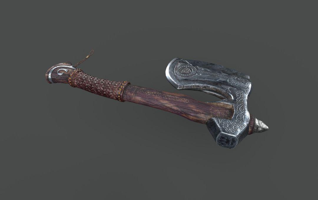 Axe Game Ready koushik routh axe render v02 jpg