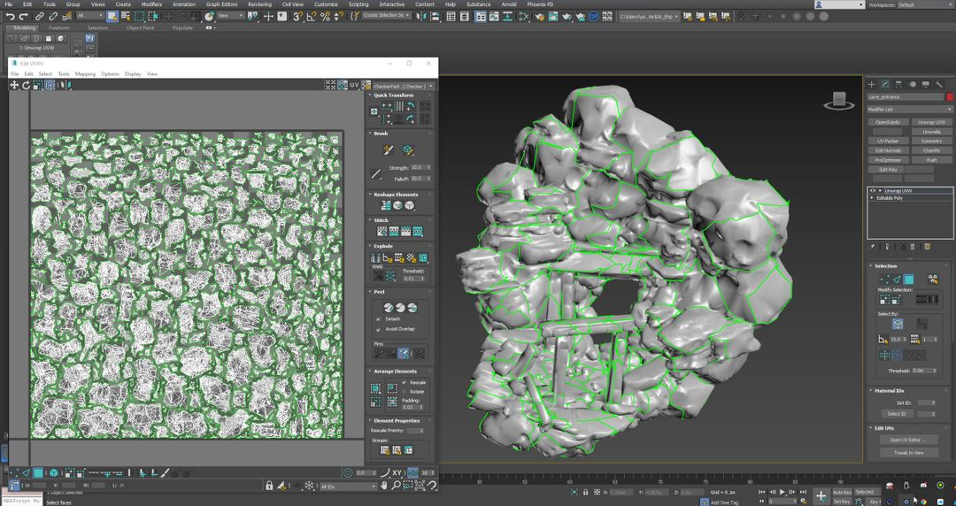 Layout out the UV's in 3ds Max