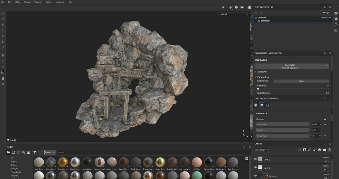 Texture painting in Substance Painter