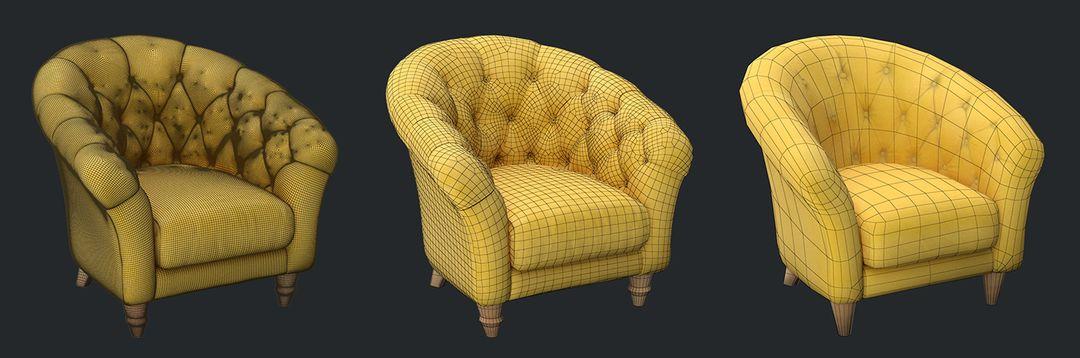 Furniture 3D Models - LODs & Configuration