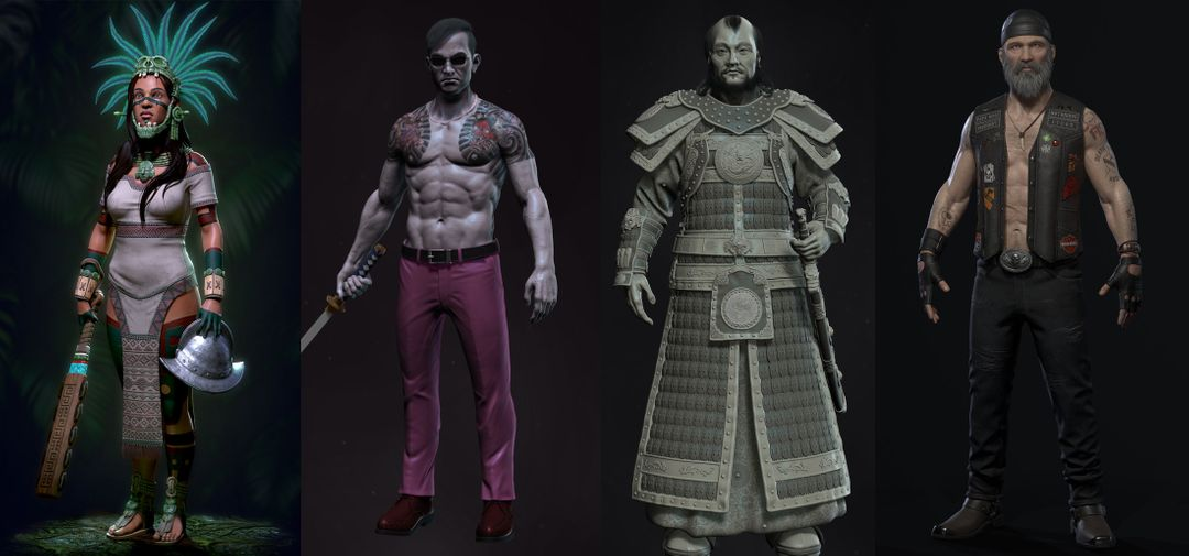 Characters from Rodrigo's Portfolio